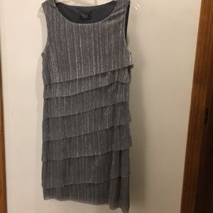 Sparkly silver sleeveless dress size 10